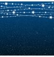 Garland Star Bulbs Stars New Year Christmas vector image vector image