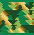 geometric christmas tree luxury seamless pattern vector image vector image