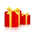 Gift Red Boxes vector image vector image