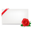 gift tag with rose vector image