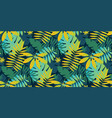 green vibrant tropical leaves seamless pattern vector image vector image