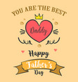 greeting card of father day style vector image vector image
