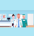 group of medical doctors team in uniform standing vector image vector image