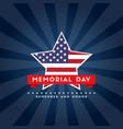 happy memorial day poster flag american vector image vector image