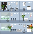 Horizontal banners with hospital interiors vector image vector image