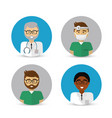 hospital doctors icon image vector image