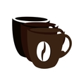 Isolated coffee cups vector image