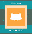 men underwear the silhouette menu item in the vector image