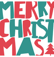 Merry Christmas Greeting Background And Christmas vector image vector image