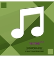 Music note Flat modern web design on a flat vector image
