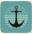 nautical anchor vintage vector image vector image