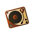 old retro vintage vinyl player home media device vector image