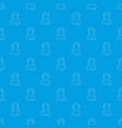 painter pattern seamless blue vector image