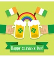 picture with a beer on St Patricks Day vector image vector image