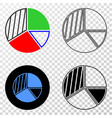 pie chart eps icon with contour version vector image