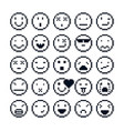 pixel icons isolated collection of 8bit graphic vector image vector image
