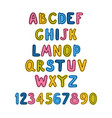 positive colorful alphabet for children vector image