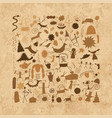 rock paintings background sketch for your design