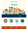 scool education website header banner vector image vector image