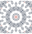 Seamless gray and orange mandala ornament vector image vector image