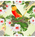 seamless texture yellow cockatiels cute tropical vector image vector image