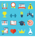 Set of gamification icons for design vector image