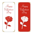 Set of two white and red vertical banner With vector image