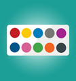 set of watercolors vector image