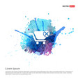 shopping cart and delete sign - watercolor vector image vector image
