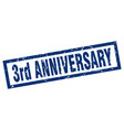 square grunge blue 3rd anniversary stamp