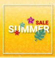 summer sale background with summer activities vector image vector image