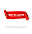 very merry christmas paper roll banner vector image