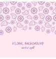violet floral background vector image vector image