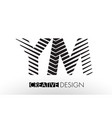 ym y m lines letter design with creative elegant vector image vector image