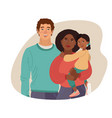 young smiling family portrait african-american vector image vector image