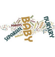 Your baby nursery text background word cloud