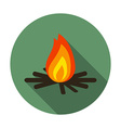 Flat design modern of bonfire icon camping and vector image