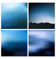 abstract blue black blurred background set vector image vector image