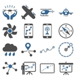 Aircraft navigation icon set vector image vector image