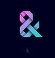 ampersand origami ribbons monogram