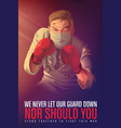 awareness poster to encourage healthcare workers vector image vector image