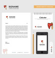 axe business letterhead calendar 2019 and mobile vector image vector image
