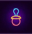 badummy neon sign vector image vector image