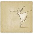 ballerina dancing studio symbol vector image vector image
