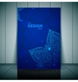 Blue Business Flayer Template with indian ornament