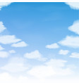blue sky with clouds abstract background vector image