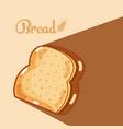bread slice delicious and fresh vector image vector image