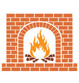 brick fireplace vector image vector image