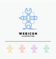 build design develop sketch tools 5 color line vector image vector image