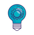 bulb with gear machinery vector image vector image